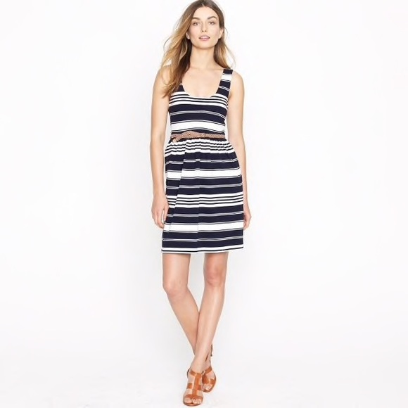 b00f539bf5 J. Crew Dresses   Skirts - J. Crew Villa Striped Navy Tank Summer Dress